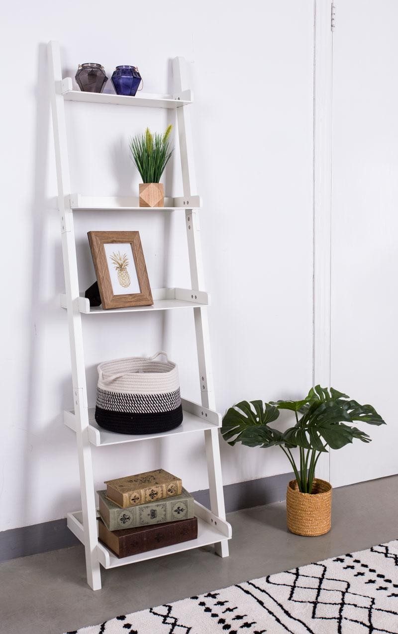 Engeren Ladder Shelf White Ladder Shelf Shelf Decor Bedroom