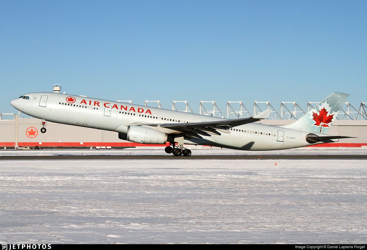 Air Canada 301 to Vancouver.. CGHKR. Airbus A330343