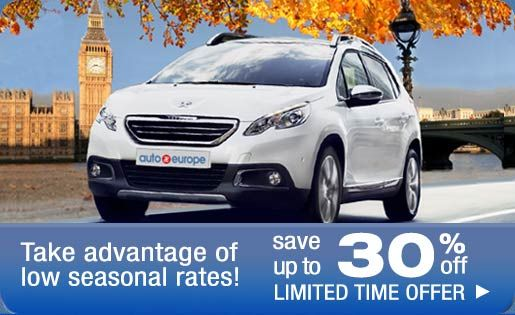 Save Up To 30 Off Car Rentals In Europe Car Rental Deals Car