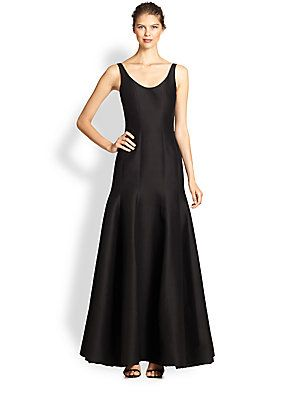 BLACK (This is the same dress I wore to Doug's sister's wedding but in Black. Not good for tall girls as it runs short) Halston Heritage Faille Tulip Gown $725