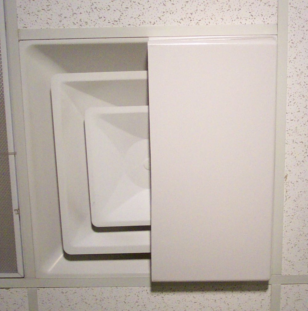 """Ceiling Air Diverter 24""""x12"""" for 2'x2' Ceiling Diffuser"""