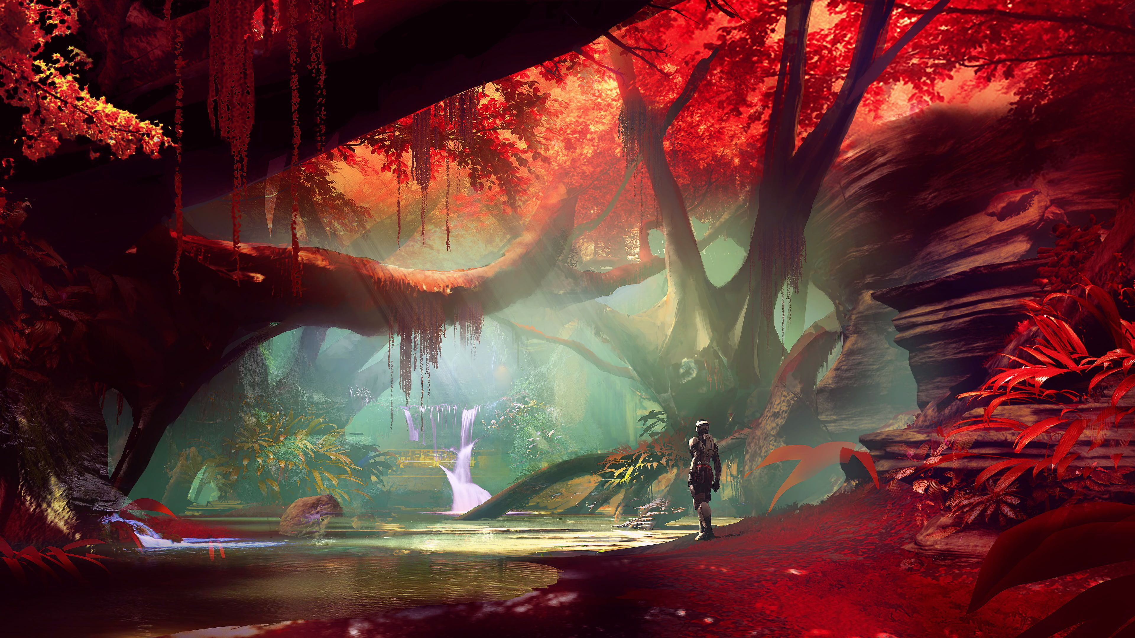Fantasy Art Fan Art Artwork Landscape Digital Art Concept Art Water Plants Trees Destiny Video Game Video Games 4k Concept Art Fantasy Art Art Pictures