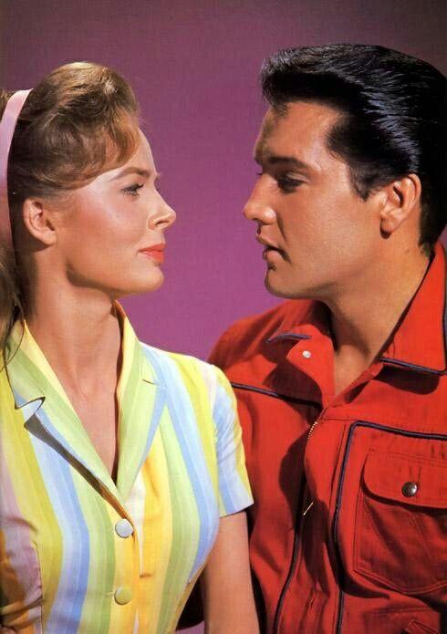 """@Roustabout"""" 1964 Elvis & Joan Freeman"""