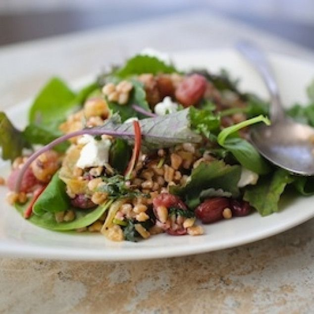 Salad with Roasted Grapes. Farro Salad with Roasted Grapes and Baby Kale. Delicious gorgeous and healthy. Perfect on it's own or as a side dish.Farro Salad with Roasted Grapes. Farro Salad with Roasted Grapes and Baby Kale. Delicious gorgeous and healthy. Perfect on it's own or as a side dish.