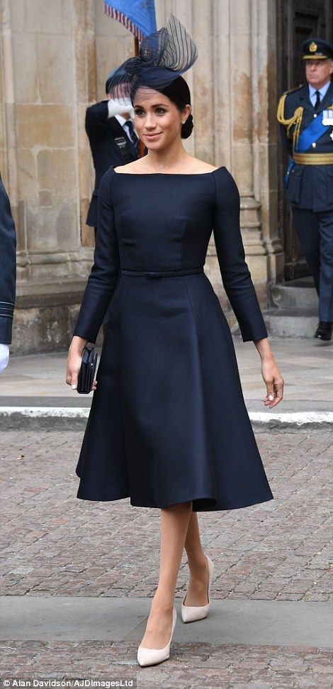 66d139062e3 Meghan Markle STUNS in little black dress as she joins royal family ...
