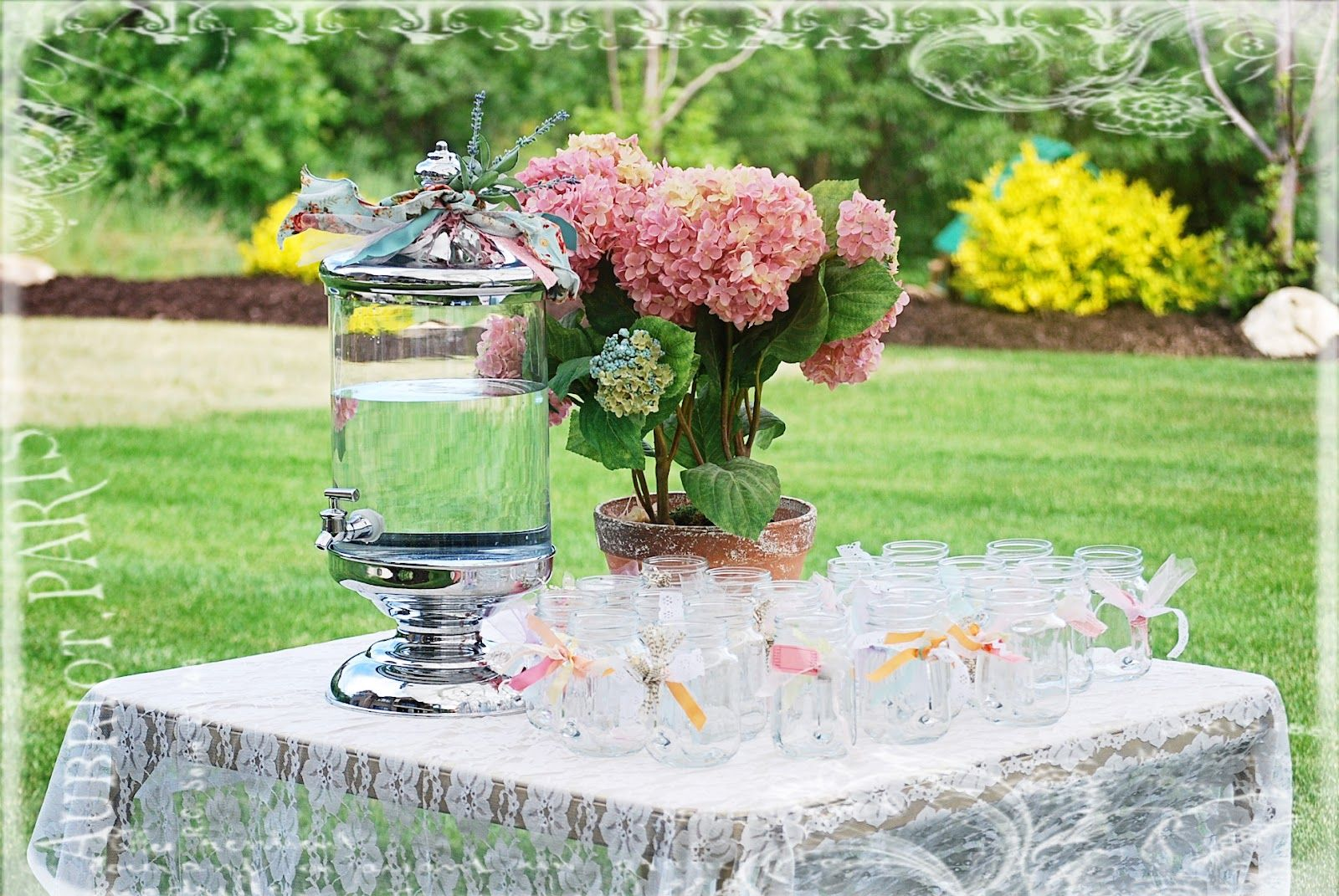 Garden Tea Party | know my little mason jar glasses are making ...