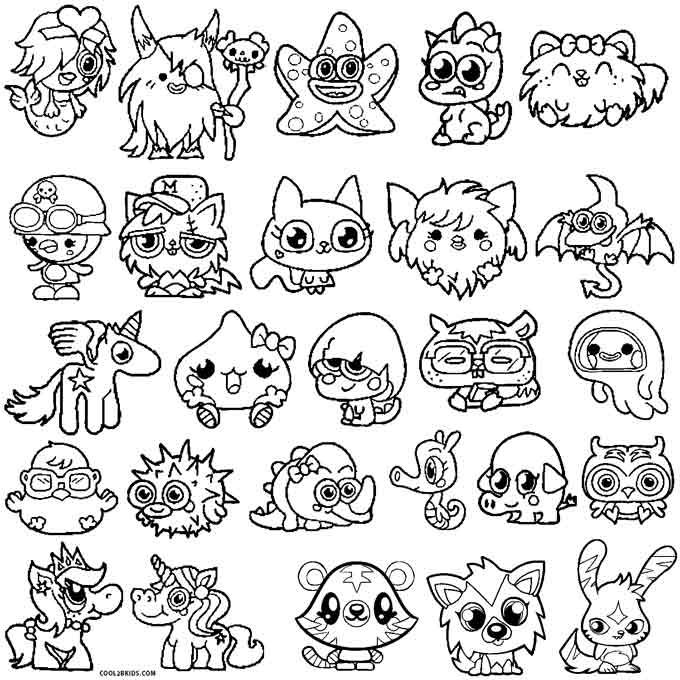 Moshi Monsters Coloring Pages Mandalas