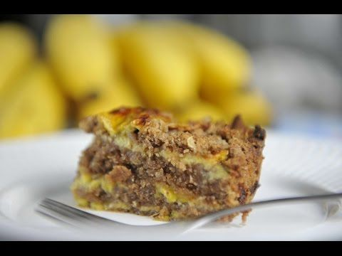 Bolo de aveia com banana sem farinha - YouTube