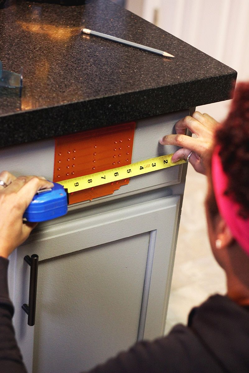 measuring for installing hardware