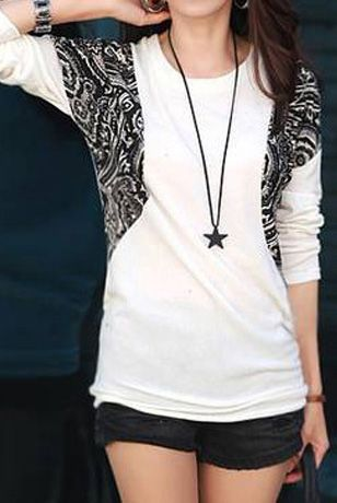 Soft Batwing Long-sleeved T-shirt