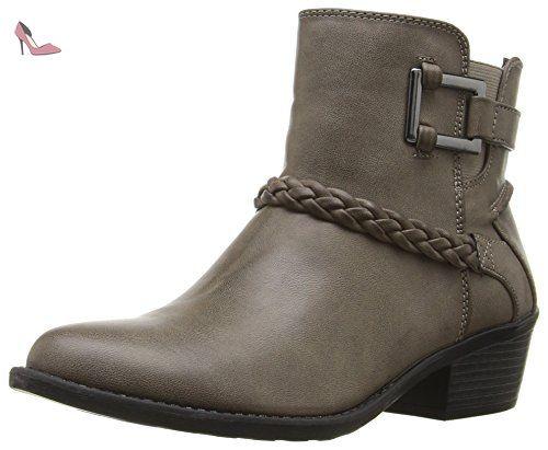 Easy Street Bridle Bridle Street Gris Large Bottine Chaussures 24399d