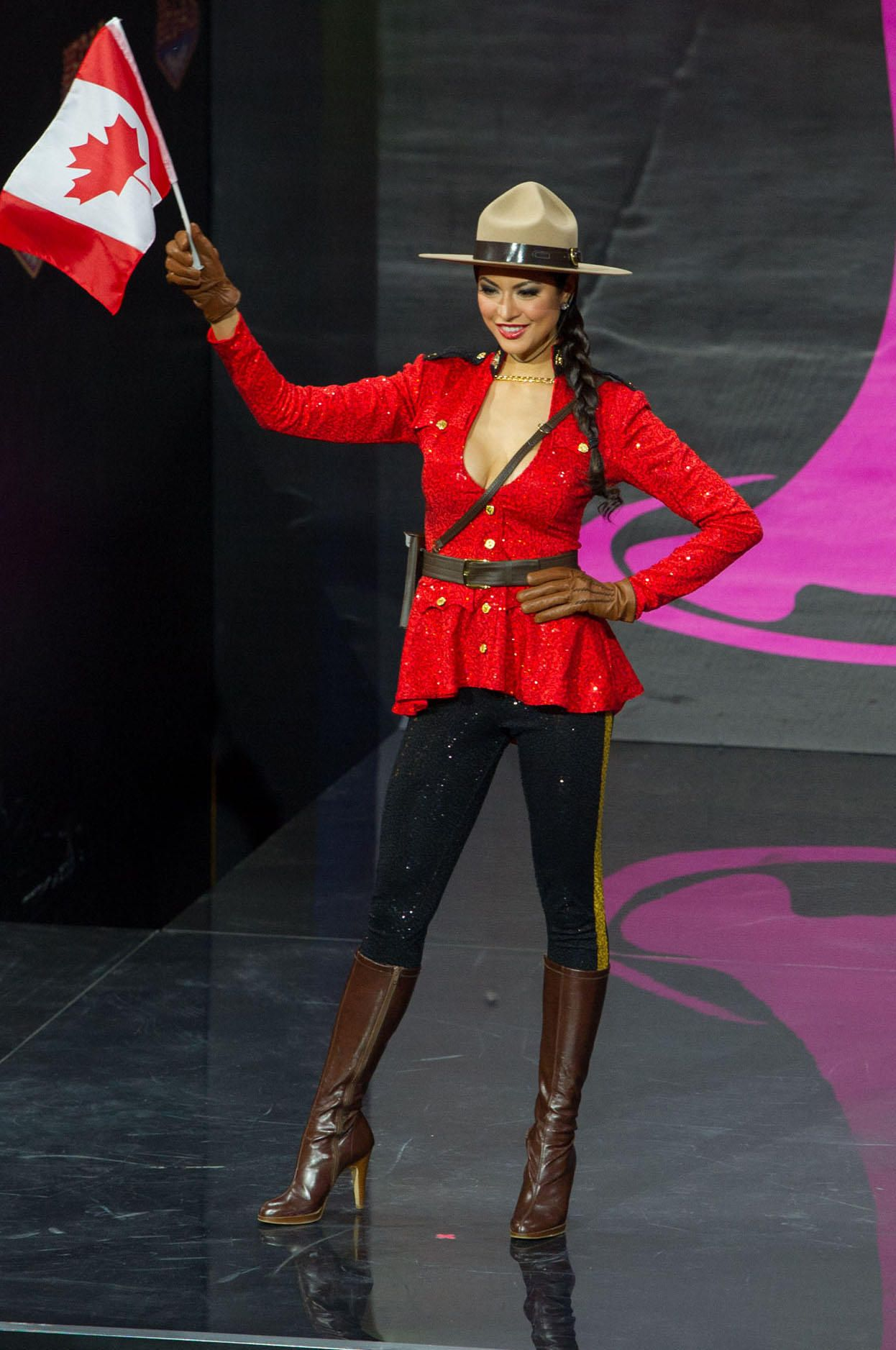 2013 MISS UNIVERSE NATIONAL COSTUME SHOW MISS CANADA--RIZA SANTOS--WE ARE  PRETTY SURE THE CANADIAN MOUNTED POLICE WOULD BE PROUD OF RIZA S SEXY TAKE  ON ... 019ca949f3