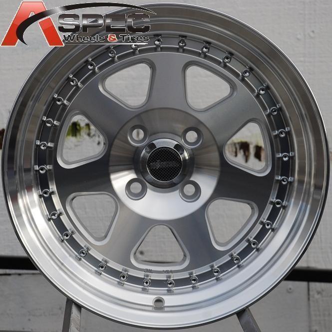 15X8 CHIKARA RS7 WHEELS 4X100MM RIMS ET20MM FITS 4 LUG HONDA CIVIC