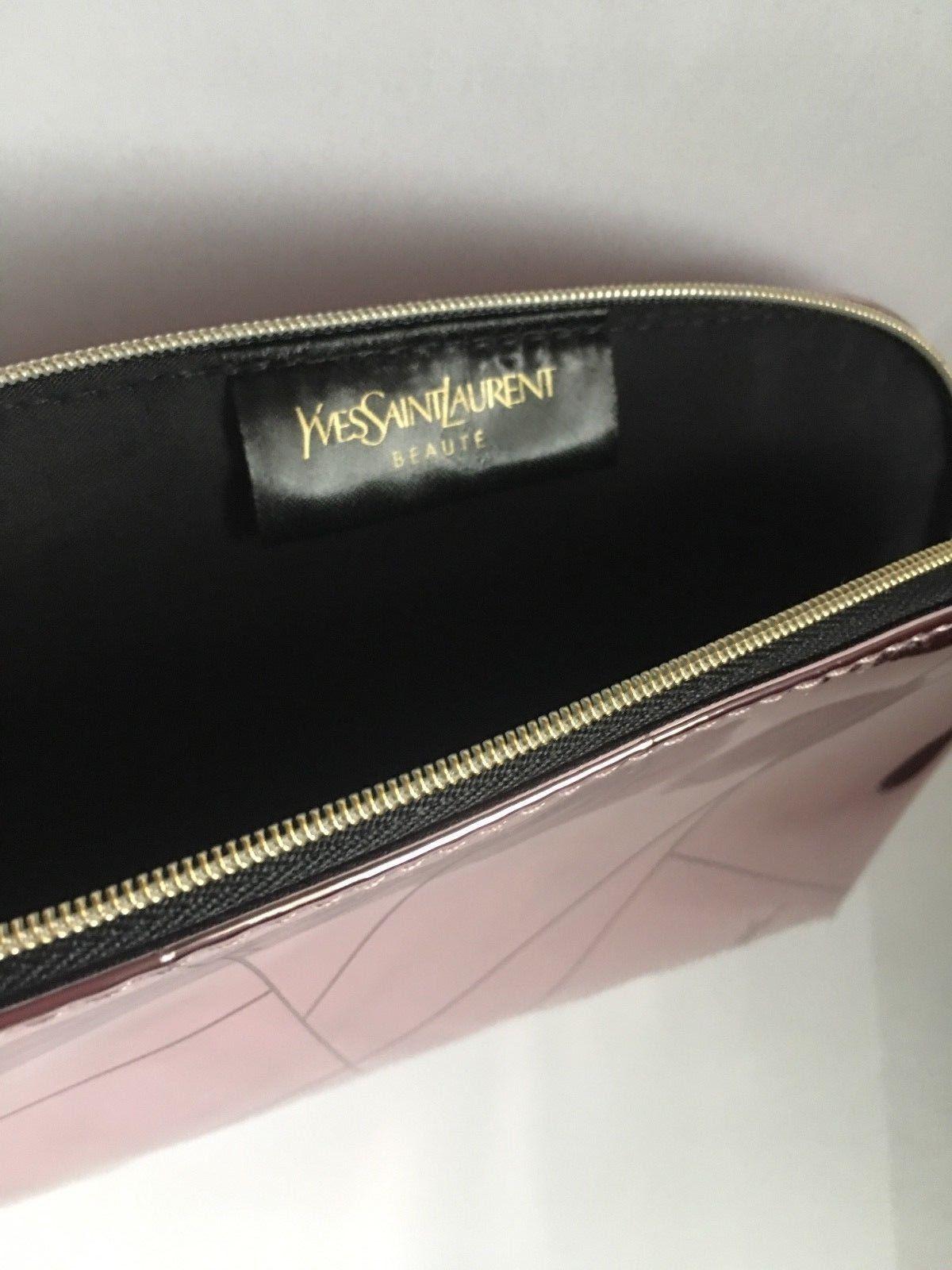 d6c2210c05f7 YSL Yves Saint Laurent Rose Gold Metalic Beaute Pouch Makeup Cosmetic Clutch   9.95  makeup  yves  saint  laurent
