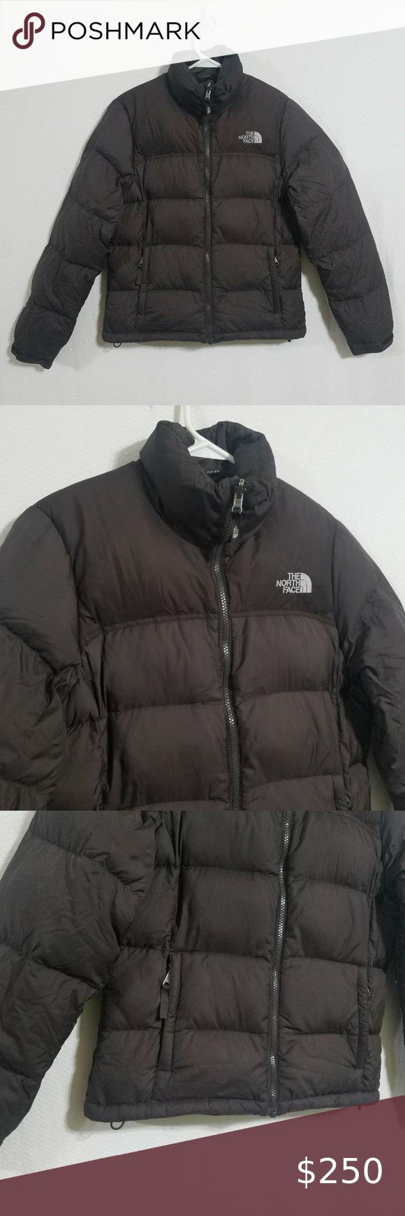 North Face Womens Brown Nuptse Small Jacket Brown North Face Women Jackets Winter Puffer Coat [ 1740 x 580 Pixel ]