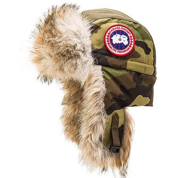 Canada Goose Aviator Coyote Fur Trim Hat Accessories (10,725 PHP) ❤ liked on Polyvore featuring men's fashion, men's accessories, men's hats and hats