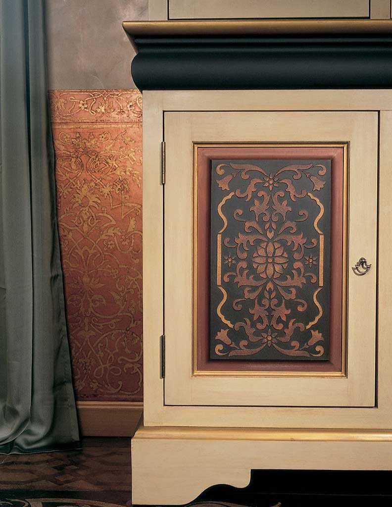 Stenciled Cabinet Doors Eastern Panel Stencil Royal Design Studio