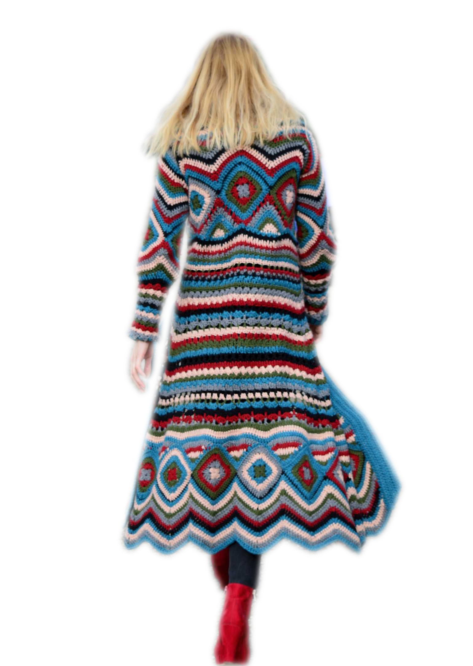 Beautiful Boho Ibiza cardigan. The pattern is available (in Dutch) on this  website