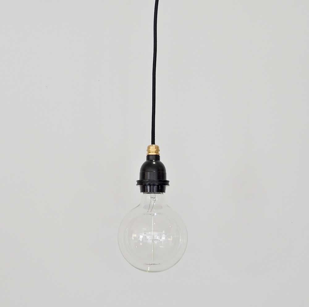 Single Light Bulb Hanging From Ceiling