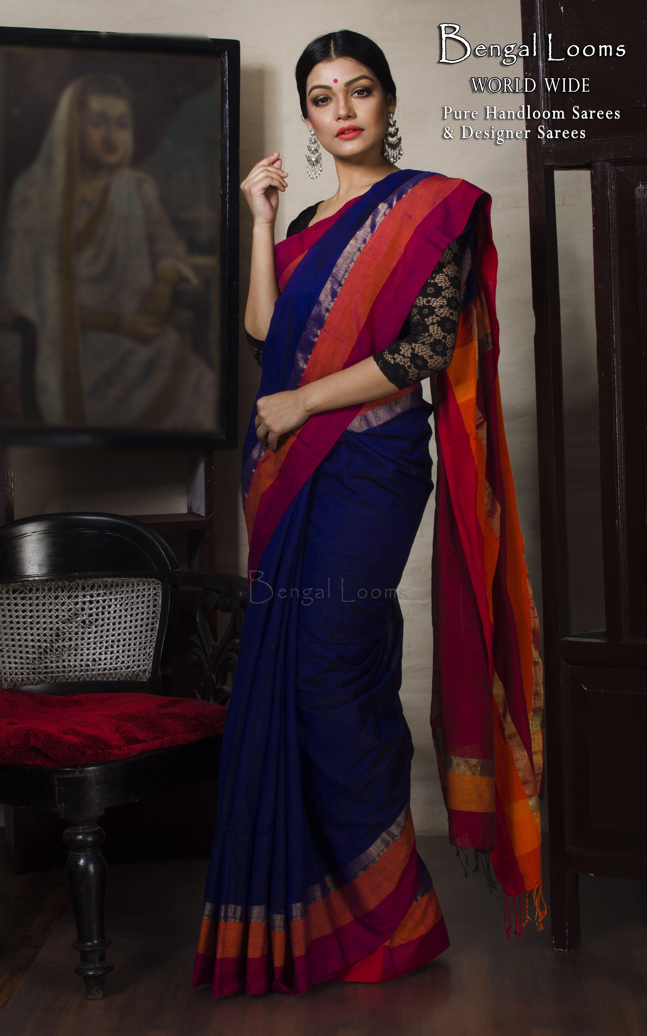b1146124ac Khadi Cotton Saree | Khadi Sarees in 2019 | Khadi saree, Saree ...