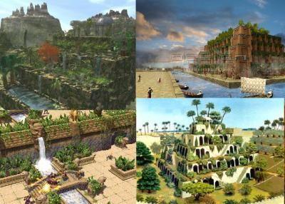 photos les jardins suspendus de babylone en mesopotamie irak actuel symbols of the world. Black Bedroom Furniture Sets. Home Design Ideas