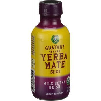 Guayaki Organic Yerba Mate Energy Shot Wild Berry Reishi 2 oz Case of 12
