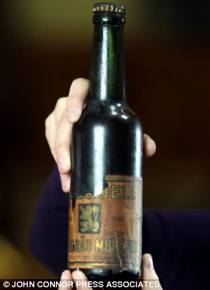 Rare bottle of lager saved from the Hindenburg disaster and