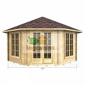 4.5m x 4.5m Log Cabin (2082) - Double Glazing (70mm Wall Thickness) - 35270