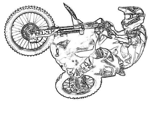 Cartoon Dirt Bike Dirt Bike Coloring Pages Coloring Pages