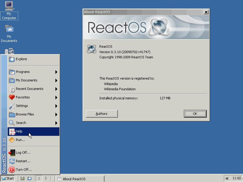 ReactOS on VirtualBox : Free Windows Like OS on Mac OS X