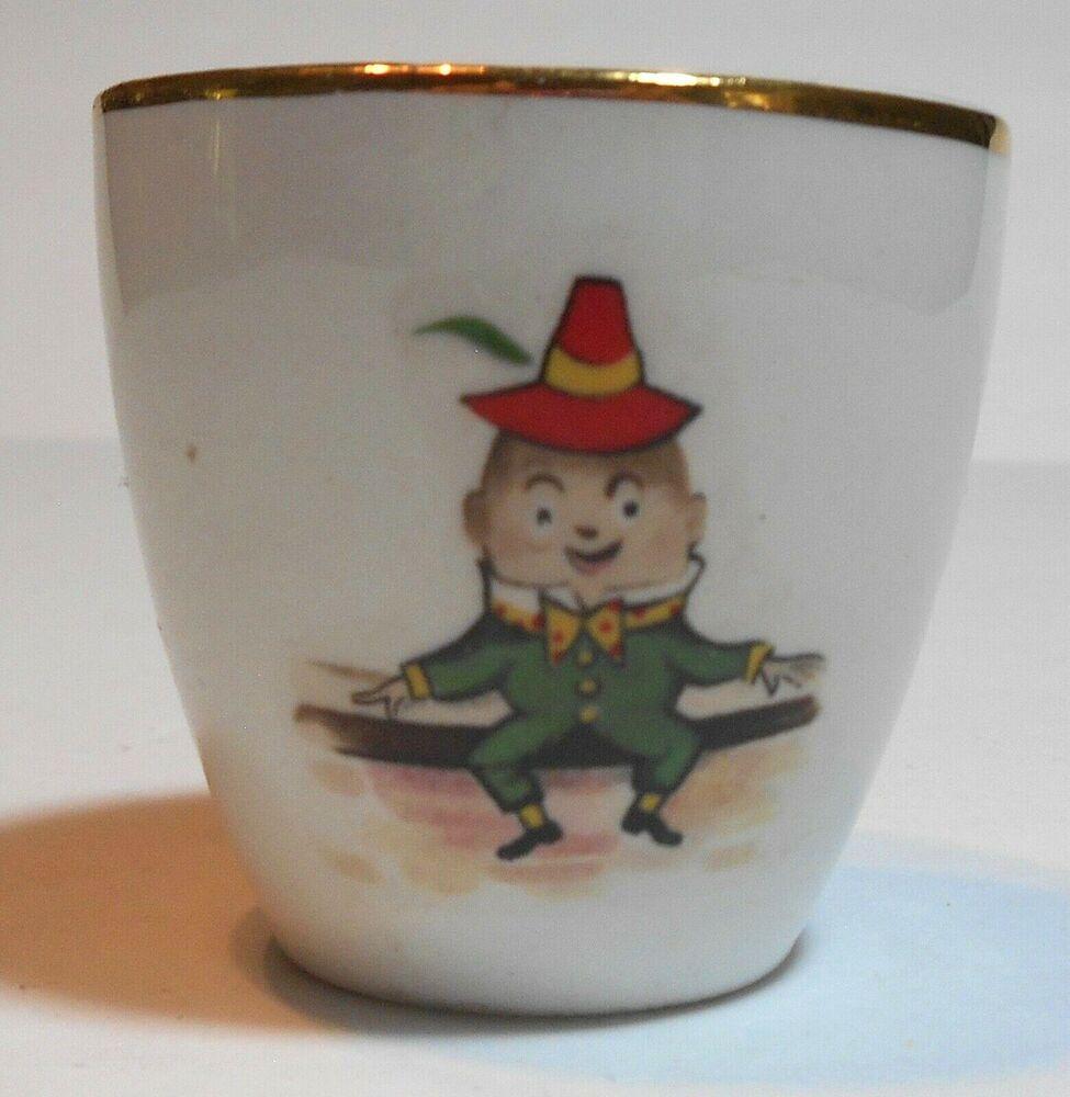 Vintage Arklow Pottery Republic Of Ireland Humpty Dumpty Porcelain Egg Cup Childrens Porcelain Eggs Pottery Porcelain