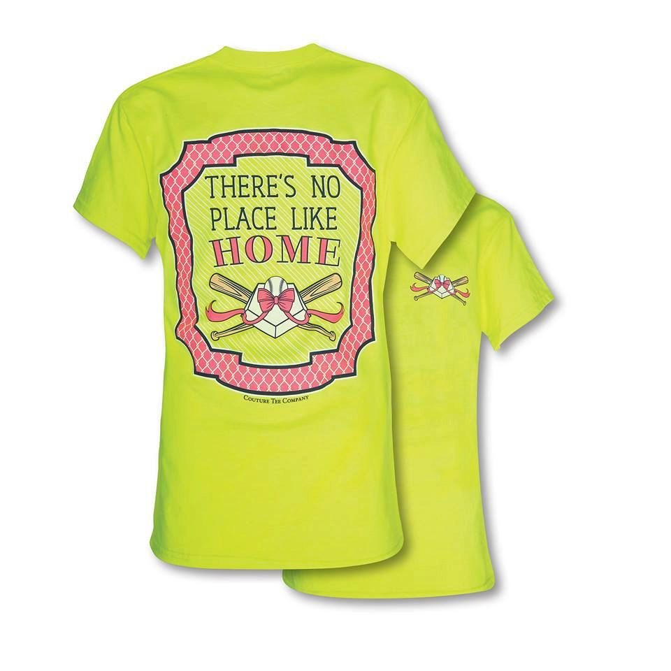 0725a85fb Youth/Kid Sizing Southern Couture Theres no place like home Neon Softball  Tee Shirt by SimplyCuteCottons on Etsy