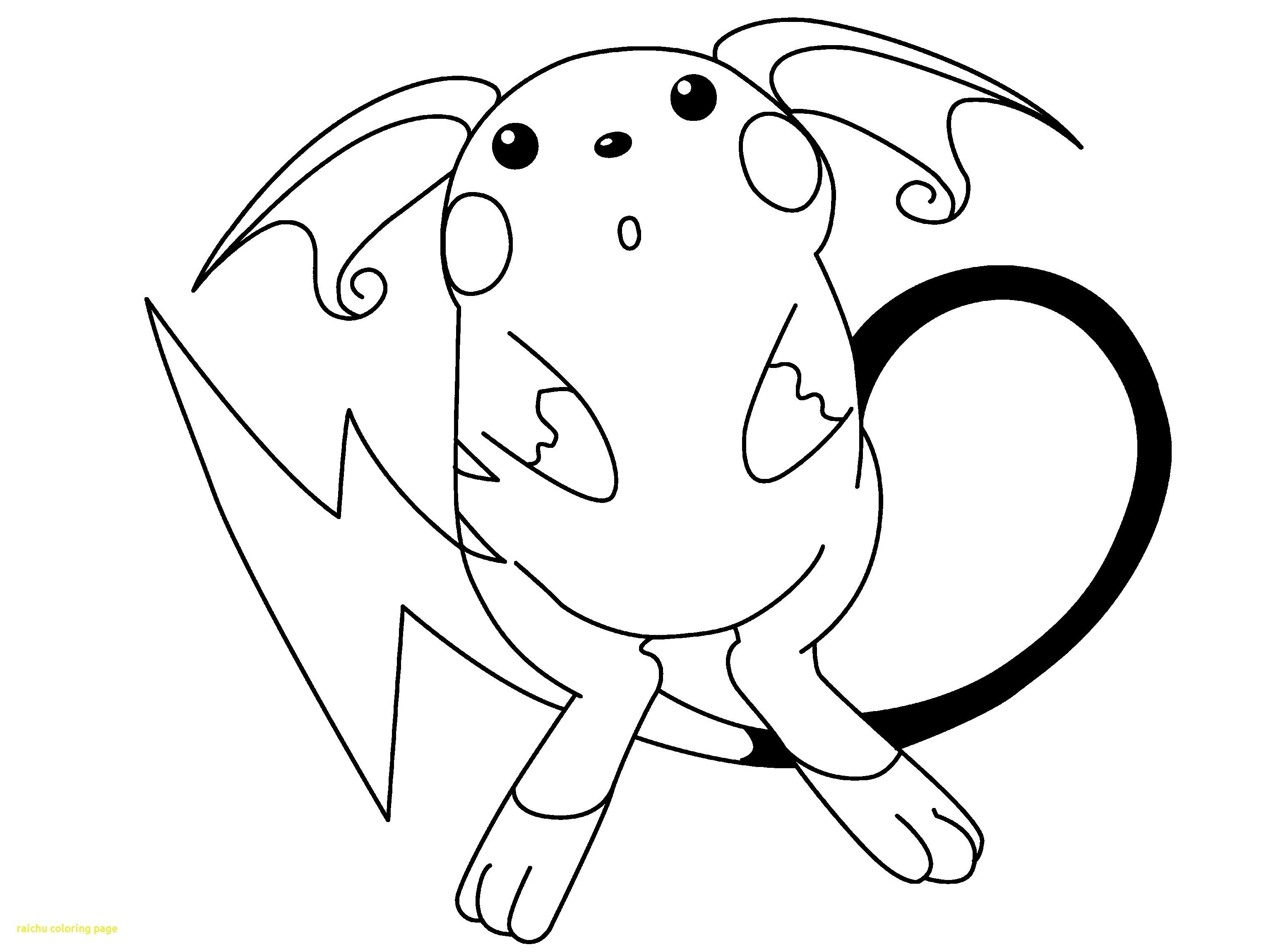 Pokemon Raichu Coloring Pages From The Thousand Images On The