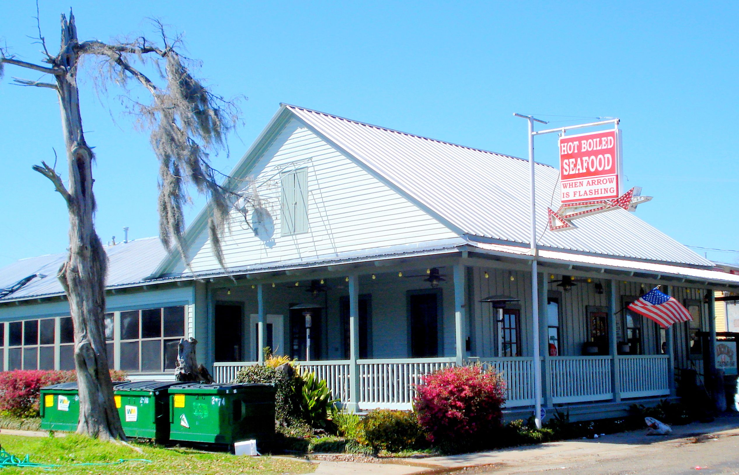 Seafood Cafe on waterfront of Madisonville - Louisiana