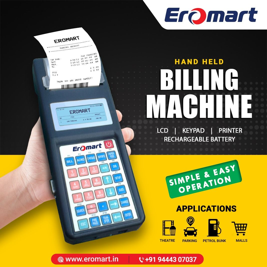 Billing Machies With Lcd Keypad Printer Rechargable Battery In 2020 Thermal Printer Barcode Scanner Graphing Calculator