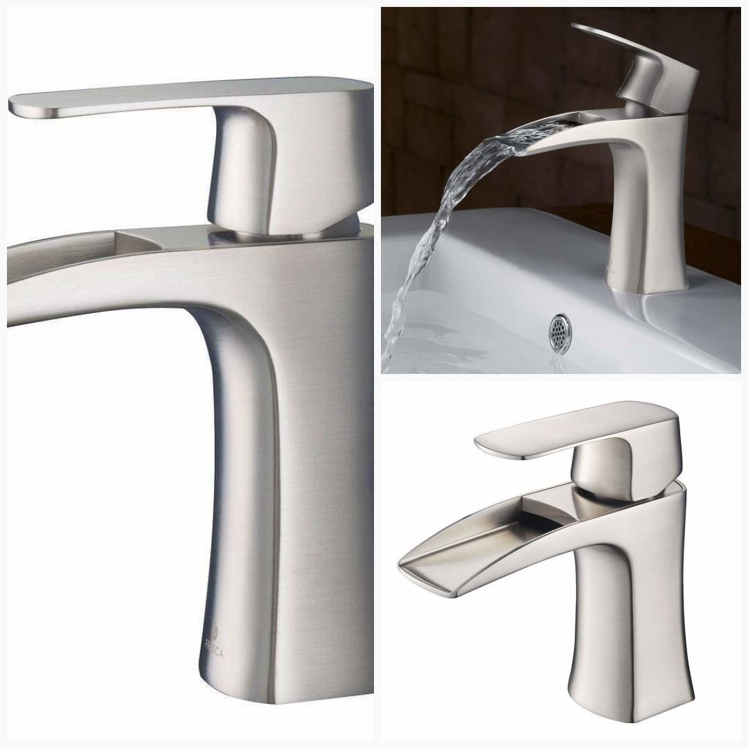 Fresca Fortore Single Hole Mount Bathroom Vanity Faucet Brushed