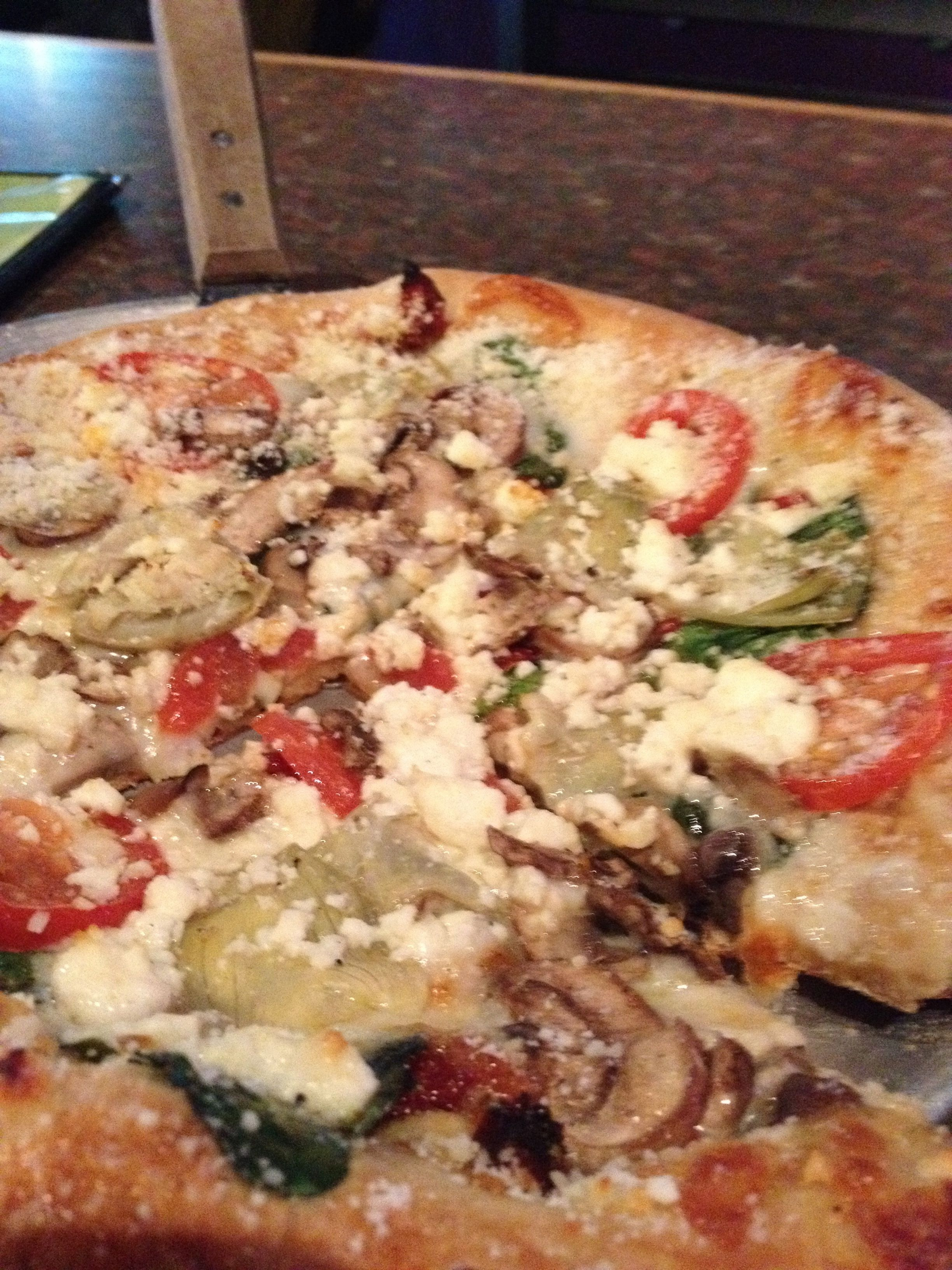 White Rabbit Pizza From Mellow Mushroom In Raleigh Nc Yum