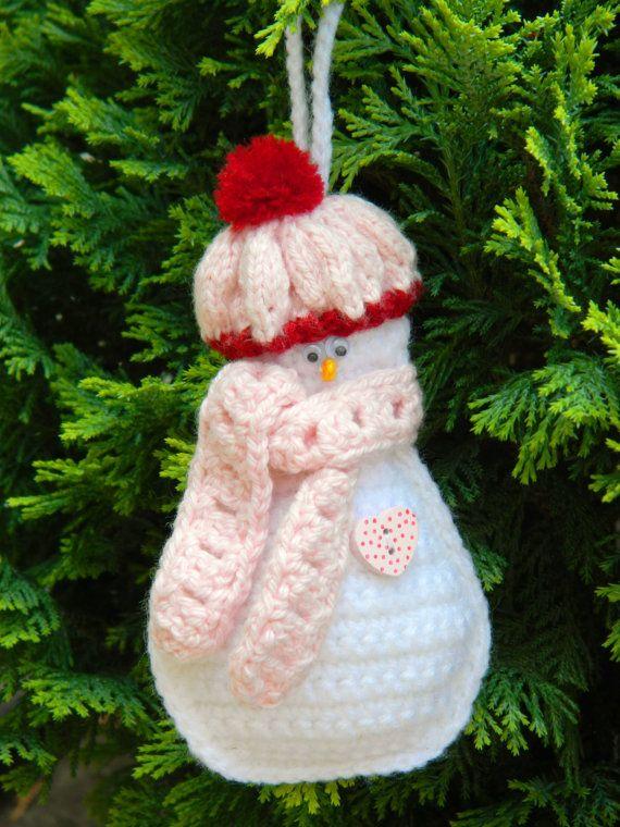 Crochet Christmas Tree DecorationFrosty The by benasworkshop