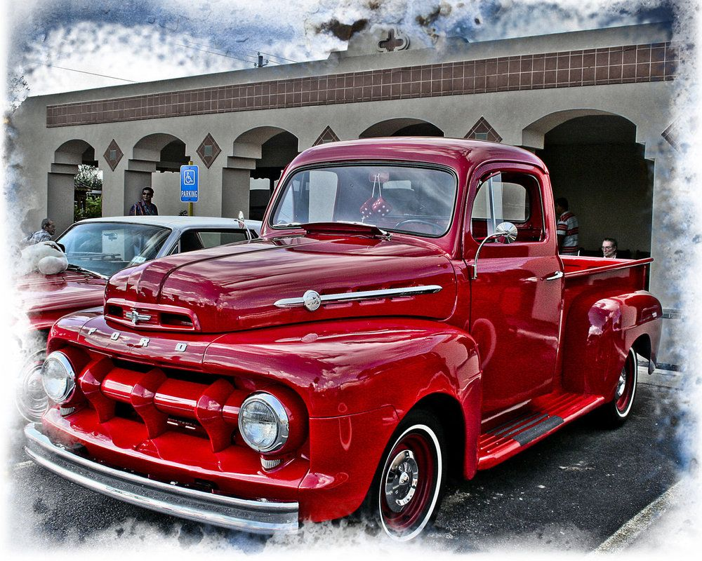 classic ford trucks classic red ford truck by dleekirby. Black Bedroom Furniture Sets. Home Design Ideas