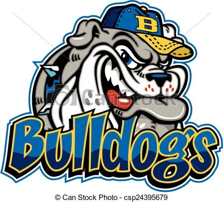 Vector Bulldog Baseball Mascot Stock Illustration Royalty Free Illustrations Stock Clip Art Icon Stock Clipart Icons Logo Bulldog Mascot Bulldog Mascot