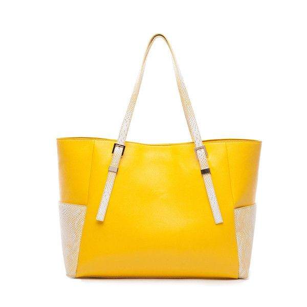 Phoebie LM Damen Shopper Eleganz Lady-Serie Schultertasche Gelb