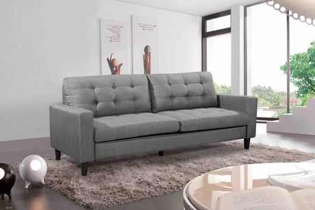 Velago Geneva Modern 3 Seater Sofa Grey Seater Sofa Sofa 3