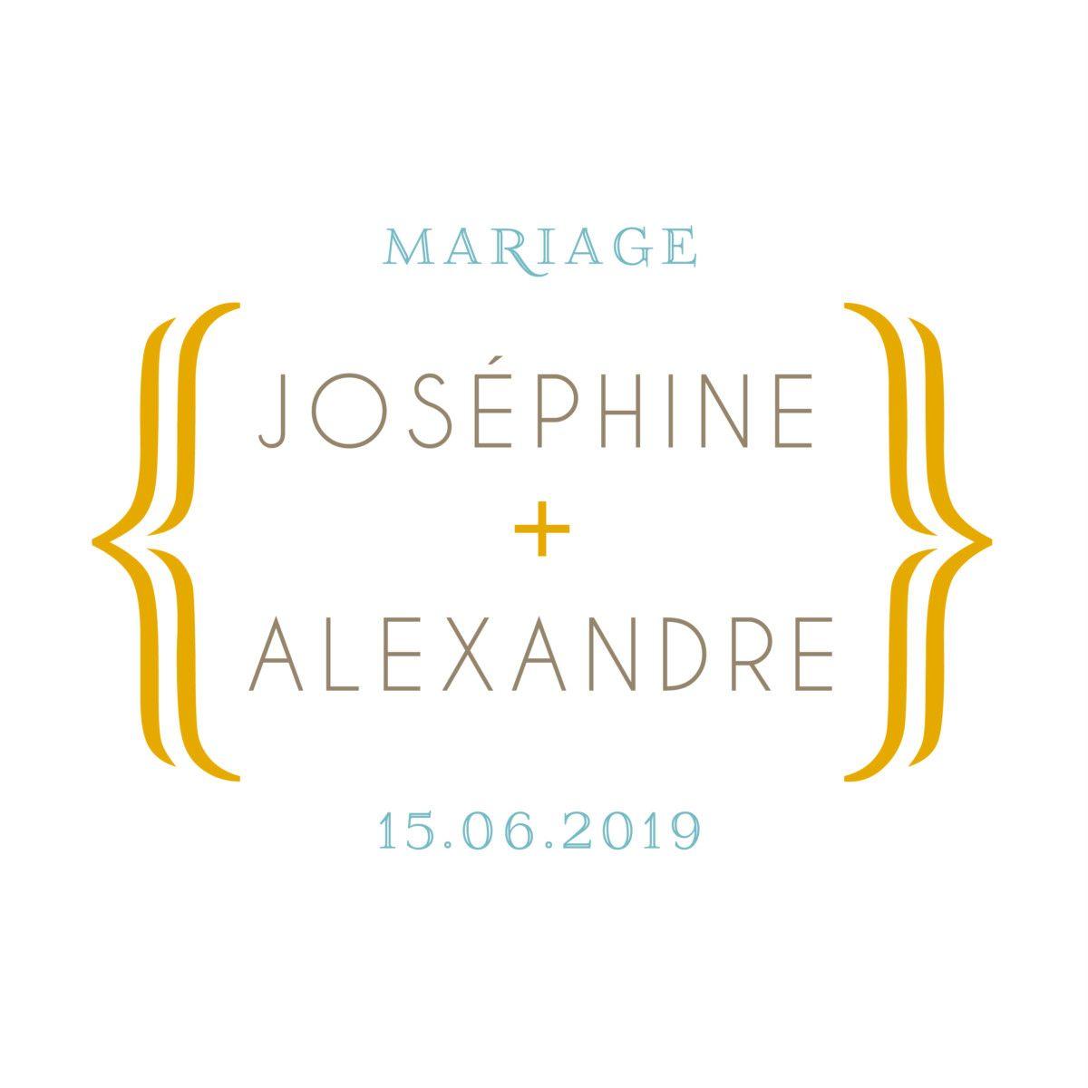 L'esthétique moderne et originale de l'étiquette de mariage Accolades saura se faire remarquer. #giftlabel #wedding #design #typographic