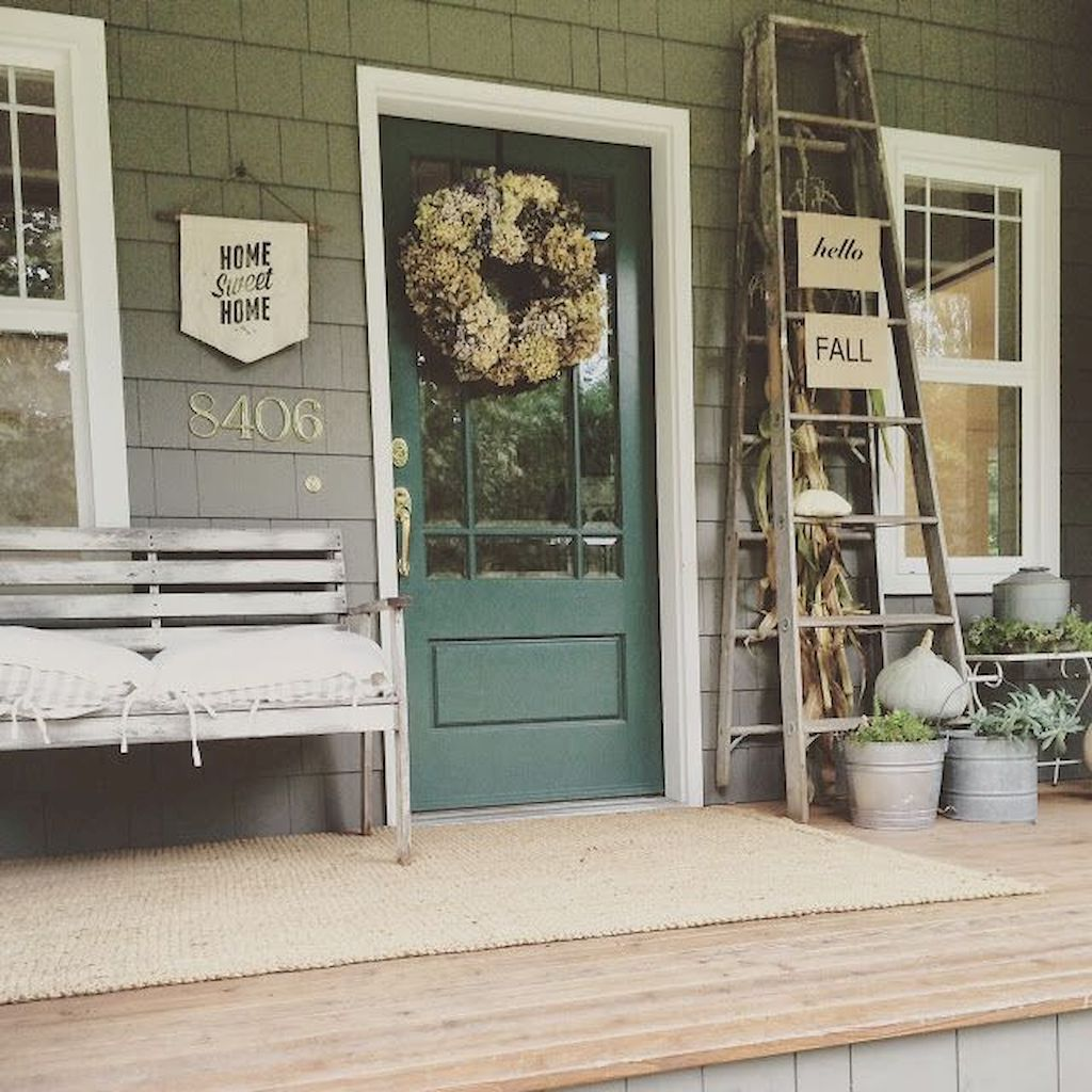 40 rustic farmhouse front porch decorating ideas january leave a comment farmhouse porches are designed for comfort they are usually large inviting