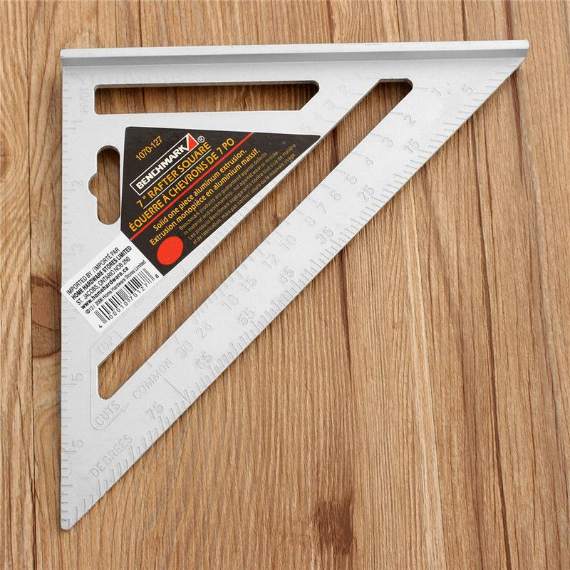 Description Nbsp 7inch Silver Aluminum Alloy Speed Square Roofing Triangle Angle Protractor Try Square Carpenter Protractor Triangle Angles Speed Square