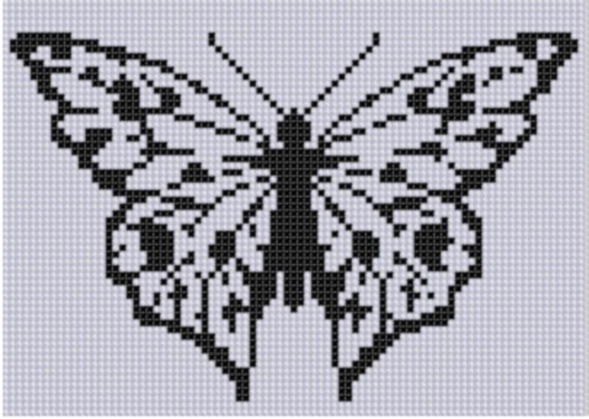 Butterfly 6 Cross Stitch Pattern | Kreuzstich, Schmetterlinge und Muster