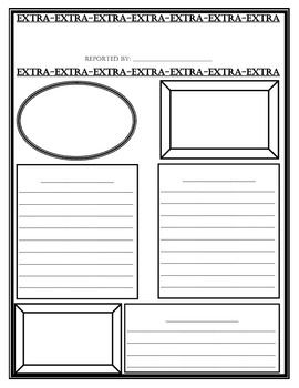 End Of Week Exit Ticket This Newspaper Template Can Be Used