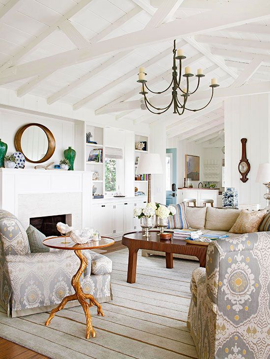 Living Room Color Schemes  Wood Beam Ceilings Beam Ceilings And Alluring Color Scheme Living Room Review