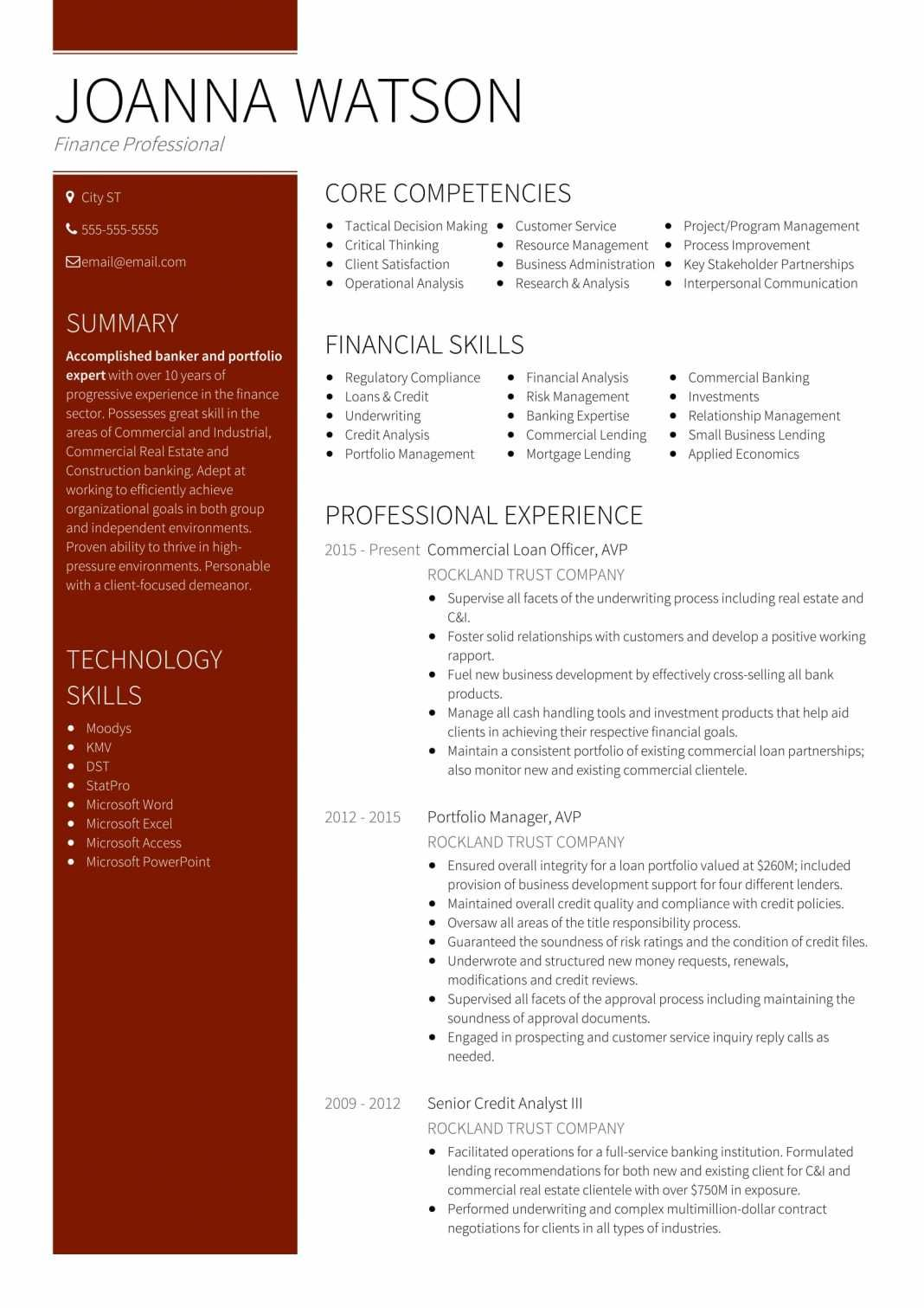18 Best Banking Sample Resume Templates Sample resume