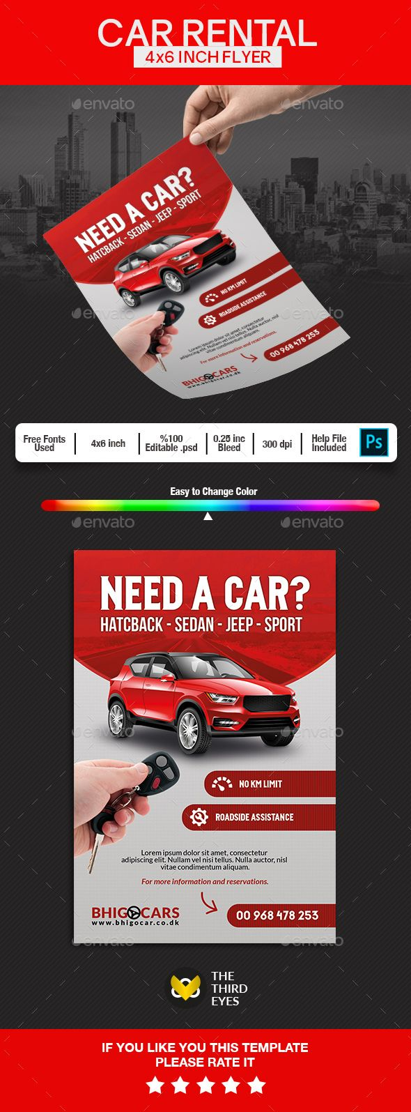 Car Rental Flyer Car rental, Flyer, Flyer design inspiration